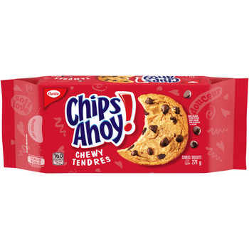 Chips Ahoy! Chewy Chocolate-Chip Cookies, 271g/9.6oz, (Imported from Canada)