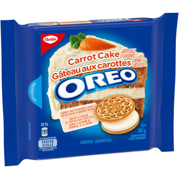 Christie Oreo Carrot Cake Cookies, 261g/9.2oz., {Imported from Canada}