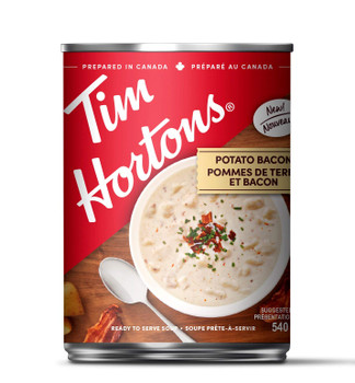 Tim Hortons Potato Bacon Soup, 540ml/18 fl.oz., Can, {Imported from Canada}