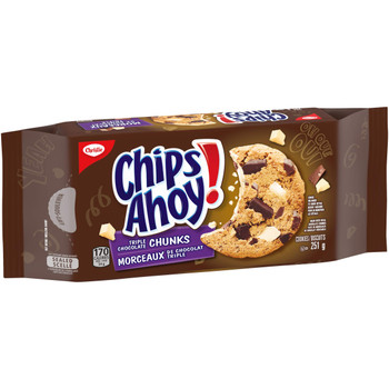Christie Chips Ahoy Triple Chocolate Chunks Chocolate Chip Cookies, 251g/8.9oz {Imported from Canada}