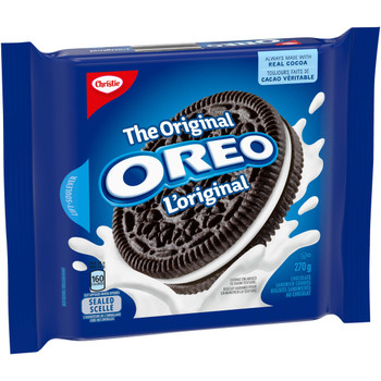 Christe Oreo Original Cookies, 270g/9.5 oz., Bag, {Imported from Canada}
