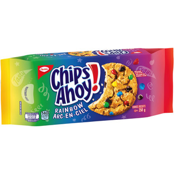 Christie Chips Ahoy Rainbow Chocolate Chip Cookies, 258g/9.1oz {Imported from Canada}