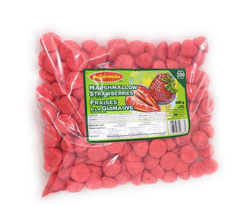 McCormicks Marshmallow Strawberries, (200 count) 800g/28.2 oz, Bag, {Imported from Canada}