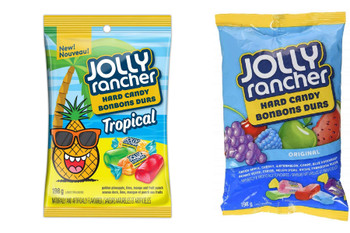 Jolly Rancher Hard Tropical & Original, 198g/7 oz., Combo Pack of 1 Each, {Imported from Canada}