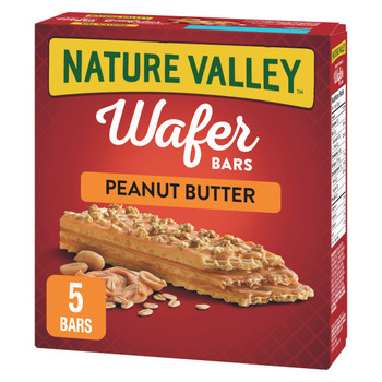 NATURE VALLEY Crispy Creamy Wafer Bars, Peanut Butter, 5 Count per box, 184g/6.5 oz., {Imported from Canada}