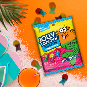 Jolly Rancher Misfits Mer-Bears, Gummy Candy (Box Of 10, 182g/6.4 oz., Bags), {Imported from Canada}