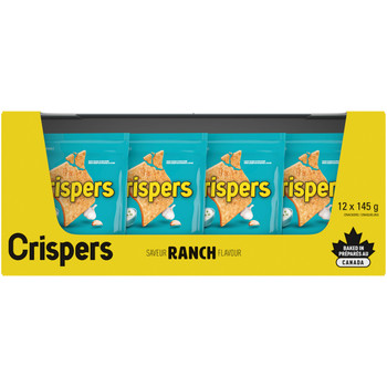 Christie Crispers, Ranch Crackers, 145g/5.1 Ounce, (12 Pack), {Imported from Canada}