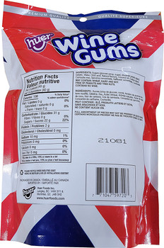 Huer Wine Gums, Gummy Candy, 350g/12.3 oz., {Imported from Canada}