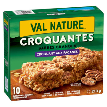 Nature Valley Crunchy Granola Bars Pecan Crunch,(10ct Box), 210g/7.4 oz., {Imported from Canada}