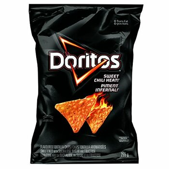Doritos Sweet Chili Heat Tortilla Chips 255g/9 oz., {Imported from Canada}