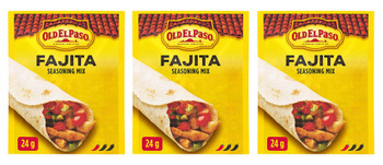 Old El Paso Fajita Seasoning Mix, 24g/0.8oz., 3-Pack {Imported from Canada}