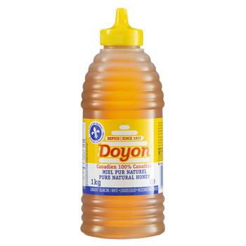 Doyon Honey Liquid White Squeeze Beehive,1kg/2.2 lbs.{Imported from Canada}