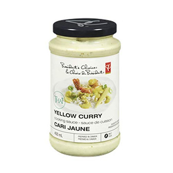 President's Choice Cooking Sauce, Thai Yellow Curry, 400ml/13.5oz {Imported from Canada}
