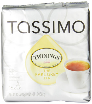 Twinings Earl Grey Tea, 16-Count T-Discs for Tassimo Coffeemakers (Pack of 2) {Imported from Canada}