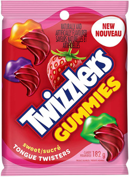 Twizzlers Gummies, Tongue Twisters, 3 Pack Value Bundle, (182g/6.4 oz. per package) {Imported from Canada}