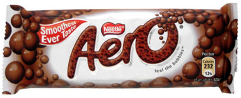Nestle Aero Candy bars, Milk Chocolate, 63g/2.2oz {Imported from Canada}