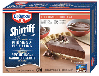 Dr. Oetker Shirriff Pudding/Pie Filling Mix Chocolate 180g{Imported from Canada]