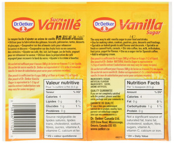 Dr. Oetker Vanilla Sugar - 6x9g {Imported from Canada}