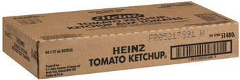 Heinz Tomato Ketchup, 57ml/1.9 fl. oz., Mini Bottles, 60 Count, {Imported from Canada}