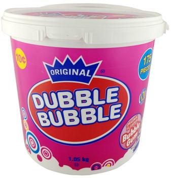 Dubble Bubble Original Flavour Bubble Gum 1.05kg/2.3lbs., 175 count, {Imported from Canada}