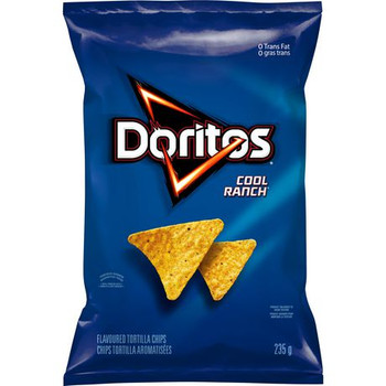 Doritos Tortilla Chips Cool Ranch Flavour, 235g/8.3 oz., Bag, {Imported from Canada}