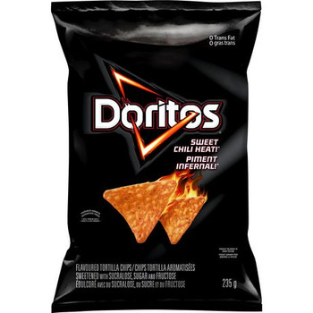 Doritos Sweet Chili Heat Tortilla Chips, 235g/8.3 oz., Bag, {Imported from Canada}