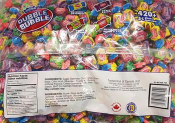 Dubble Bubble Twist Wrapped Gum 4 Flavors 420 Plus Pieces - {Canadian}
