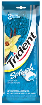 Trident Splash Vanilla Mint Gum 3 Pack, 9 pieces per pack., 27 pieces, total order, {Imported from Canada}