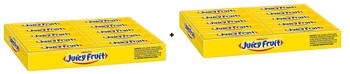 Juicy Fruit Chewing Gum with Sugar, The Original, 20ct (2 Pack) {Imported from Canada}