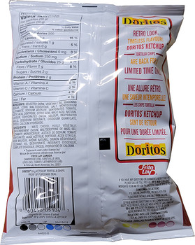 Doritos Ketchup Tortilla Chips, 39g/1.4 oz, Vending Machine Size Bag, (Imported from Canada)