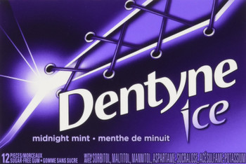 Dentyne Ice Midnight Mint Chewing Gum, 12 Count, 144 pieces (Total) {Imported from Canada}