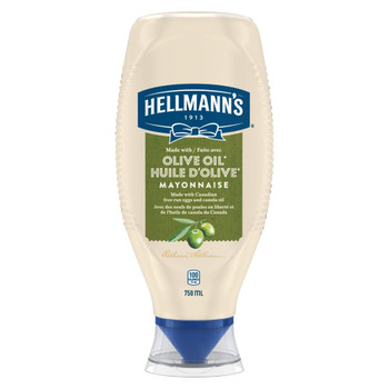 Hellmann's Mayonnaise, Olive Oil, 750 ml/25.4 fl. oz., {Imported from Canada}