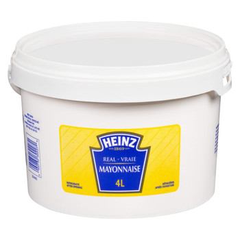 Heinz Mayonnaise, 4L/1.1 Gallon, Tub, {Imported from Canada}