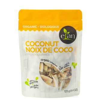 ELAN Organic Coconut Smiles 125g/4.40oz {Imported from Canada}