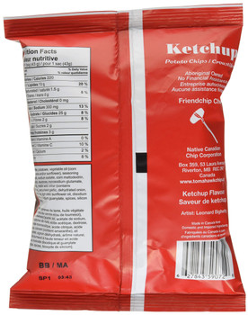 Tomahawk Ketchup Flavour Potato Chips, 43g/1.5 oz., Vending Size Bag, {Imported from Canada}