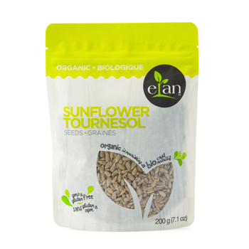 ELAN Organic Sunflower Seeds 200g/7.1 oz., {Imported from Canada}