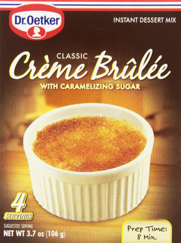 Dr Oetker European Gourmet Bakery Classic Creme Brulee, 106g/3.7 oz {Imported from Canada}