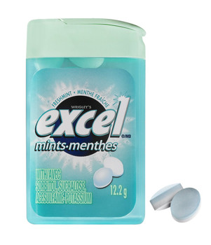 Excel Mints Fresh Mint, 12gm, 12 Count {Imported from Canada}