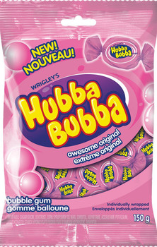 Hubba Bubba Awesome Original Bubble Gum 150g/5.3 oz., (6-Pack) {Imported from Canada}