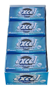 Excel Mints Peppermint, 34gm Tin, 8 Count (Imported from Canada)