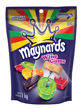 Maynards Wine Gums, 1kg /2.2lbs, per bag, (4 Pack) {Imported From Canada}