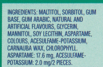 Excel Sugar-Free Gum, Chlorophyll, 12 Count {Imported from Canada}