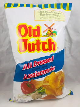 Old Dutch, All Dressed, Potato Chips, Gluten Free (255g/9 oz.) (2 Pack) {Imported From Canada}