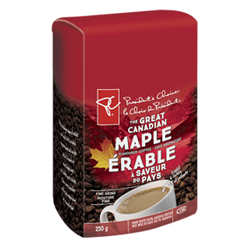 President's Choice, The Great Canadian Maple Flavoured Ground Coffee, 250g/8.8 oz.,(3 Pack) (Imported from Canada)