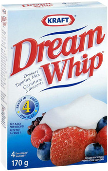 Dream Whip Dessert Topping Mix, 170g/6oz, 2-Pack {Imported from Canada}