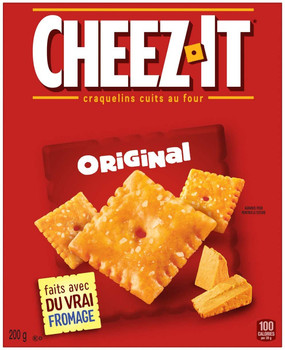 Cheez-It Original Baked Snack Crackers, 200g/7.1 oz., Box, {Imported from Canada}