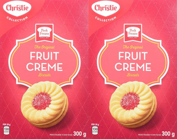 Peek Freans Fruit Creme Cookies, (Pack of 2), 300g/10.6 oz. {Imported from Canada}