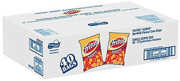 FRITOS Hoops Barbecue Chips, (Box), Vending Size (40ct x 57g/2oz.) (Imported from Canada)