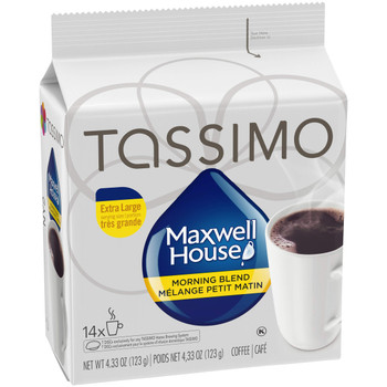 Tassimo Maxwell House Morning Blend Coffee, 70 T-Discs (5 Boxes of 14 T-Discs) {Imported from Canada}