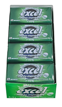 Excel Sugar Free Spearmint Mints, 34g Tin, 8 Count {Imported from Canada}